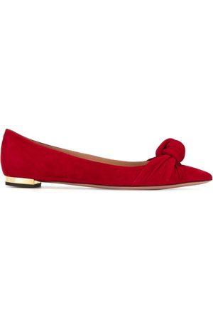 Aquazzura Knot-detail ballerina shoes