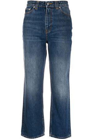 Ganni High-waisted straight-leg jeans