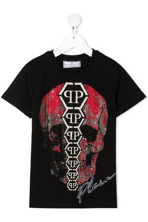 Philipp Plein Crystal-embellished skull T-shirt
