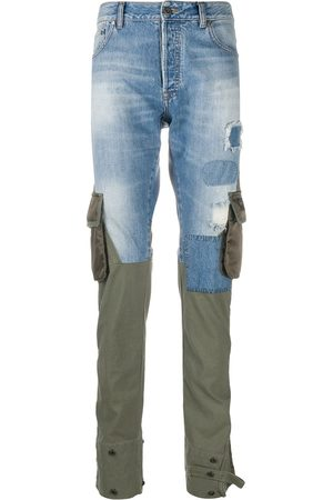 Paul & Shark Pantalones cargo con paneles de mezclilla