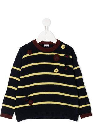 Il gufo Striped crew-neck jumper