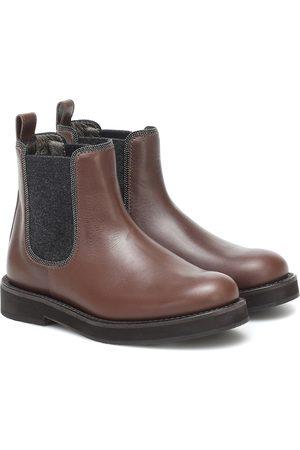 Brunello Cucinelli Niña Botines - Leather Chelsea boots