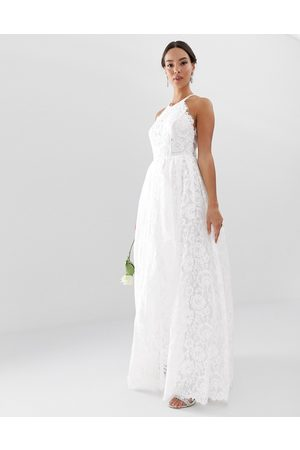 ASOS Mujer Vestidos de noche - Amalie lace halter neck maxi wedding dress