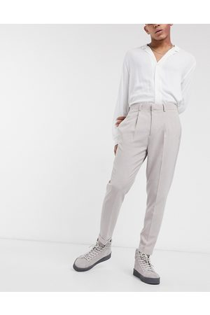 ASOS Tapered smart trouser in cross hatch