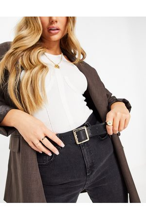 ASOS Double prong waist and hip belt in black