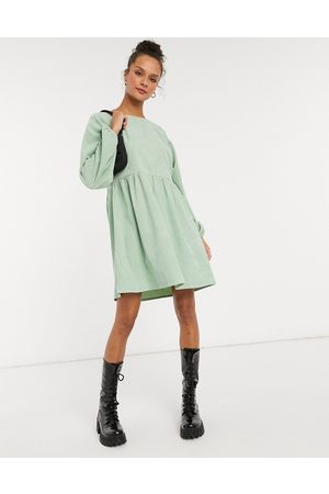 Daisy Street Long sleeve mini smock dress in pastel cord