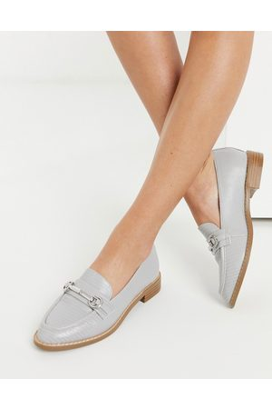 ASOS Mabel snaffle loafers in grey