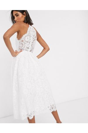 ASOS Valerie lace halter neck midi wedding dress