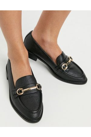 ASOS Mabel snaffle loafers in black