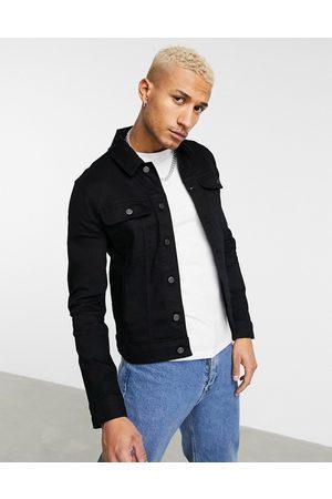 ASOS Skinny western denim jacket in black