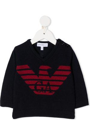 Emporio Armani Suéter tejido con logo