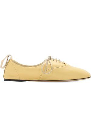 Loewe Mujer Pantuflas - Zapatos Planos Con Cordones De Piel Suave 10mm