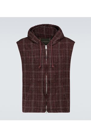 UNDERCOVER Hombre Chalecos - Checked wool gilet with hood