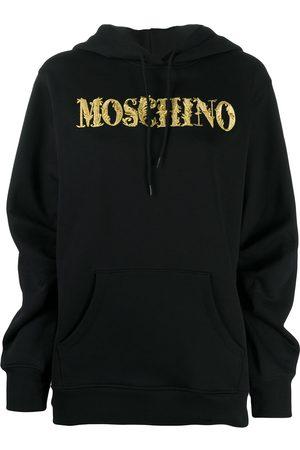 Moschino Sudadera con capucha y logo bordado