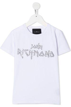 John Richmond Junior White logo t-shirt