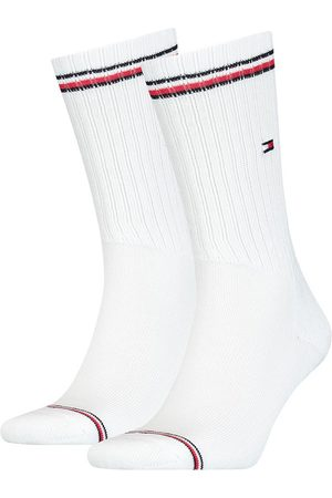 Tommy Hilfiger Calcetines Iconic Crew 2 Pares EU 39-42 White