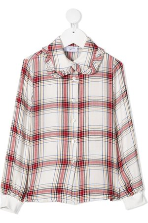 MONNALISA Disney patch plaid shirt