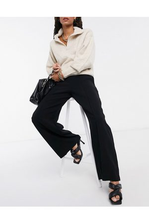 Closet Mujer Leggings y treggings - High waist tailored trousers in black