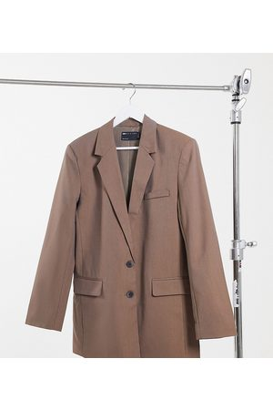 ASOS ASOS DESIGN Tall perfect slouch dad suit blazer in mocha
