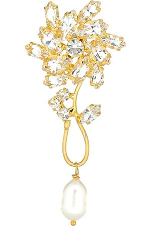 MAGDA BUTRYM Borage single crystal-embellished earring with pearl