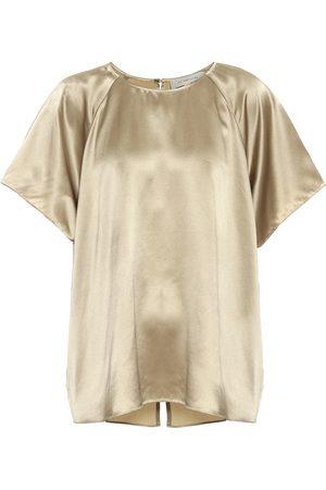 Lee Mathews Stella silk satin blouse