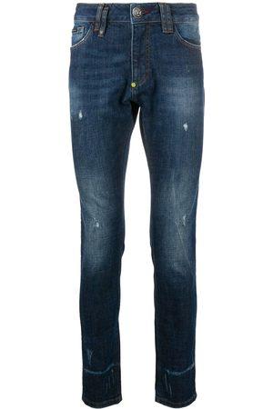 Philipp Plein Slim fit skull stud jeans