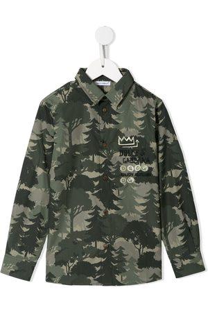 Dolce & Gabbana Camisa con pinos estampados