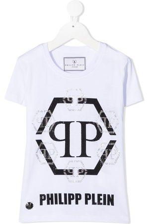 Philipp Plein Hexagon crystal logo T-shirt