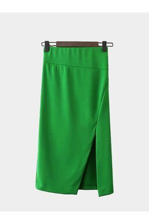 YOINS Pencil Skirt with Side Split in