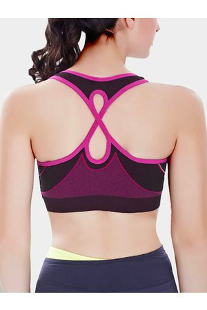 YOINS Magenta Cut Out Design Sports Bra