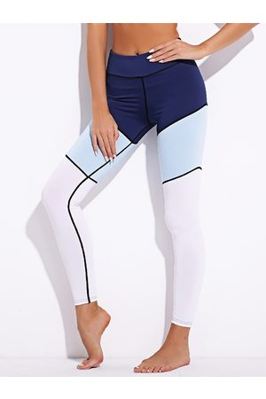 YOINS Active Stitching Design Contract Color Leggings in
