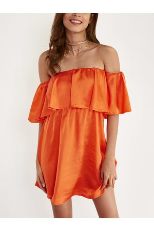 YOINS Off Shoulder Mini Dress with Layered Details