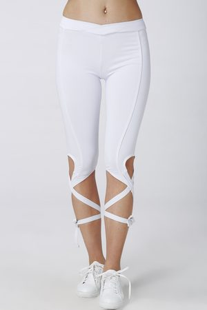 YOINS See-through Turnout Leggings with Self-tie