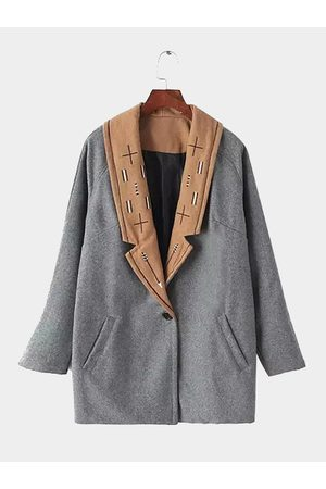 YOINS Duster Coat with Embroidery