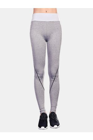 YOINS Active Stitching Design Quick Drying Yoga Leggings in Light