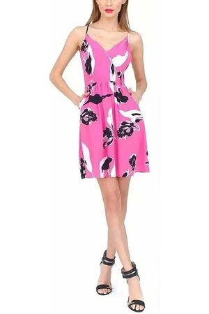 YOINS Printed Cami Party Dress With Cross Back In Rose