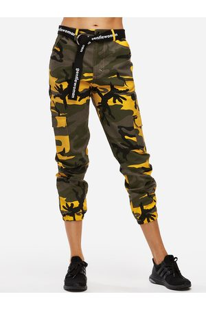 YOINS Active Camo Pattern High Waisted Sports Pants in