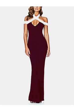 YOINS Mujer De fiesta - Cut Out Cold Shoulder Sleeveless Party Dress