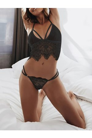 YOINS Delicate Lace Bralette and Thong Lingerie Set