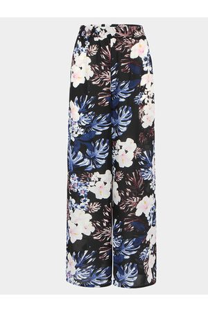 YOINS Chiffon Wide Leg Trousers In Floral Printed