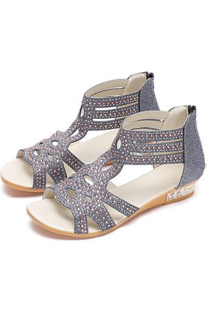 YOINS Gladiator Jewerly Embellishment Sandals