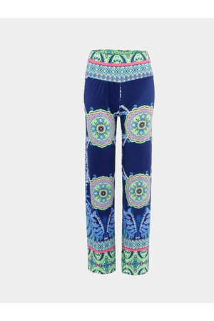 YOINS Vintage Floral Straight Trousers