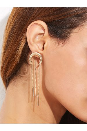 YOINS Moon Shape Chain Tassel Earring