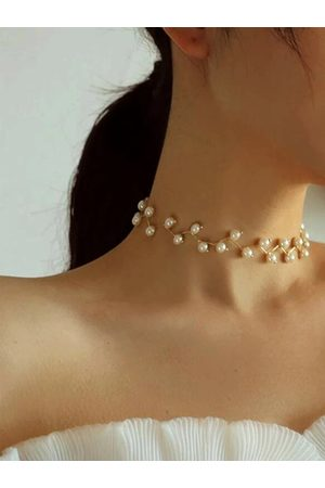 YOINS Pearl Clavicle Chain Choker Multi-layer Necklace