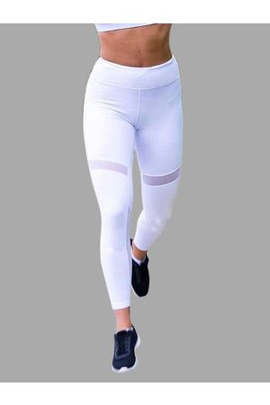 YOINS Active Net Yarn Quick Drying Stitching High Waisted Leggings in