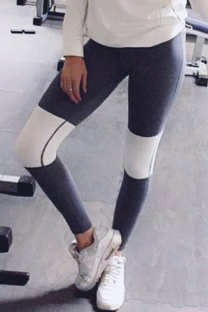 YOINS Active Causal Style Middle-waisted Yoga Leggings