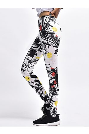 YOINS Active Floral Print Pattern High Waisted Leggings