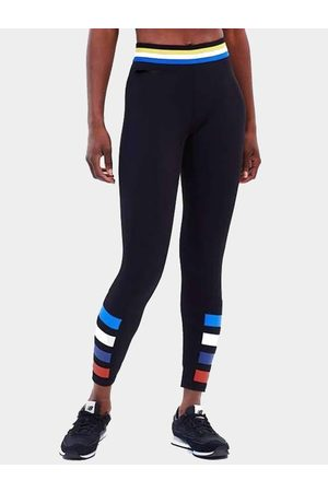 YOINS Mujer Leggings y treggings - Active Comfy Contrast Color Stripe Quick Drying High Waist Leggings in