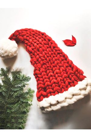 YOINS Christmas Red Color Block Knit Hat