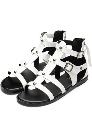 YOINS Leather Look Gladiator Flat Sandals